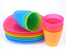Plastic Cups And Plates Royalty Free Stock Photos