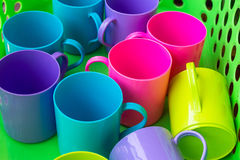 Plastic cups Royalty Free Stock Images