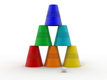 Plastic cups on isolated background Stock Image