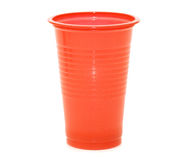 Plastic cups isolated on the white Royalty Free Stock Image