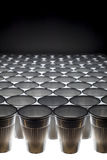 Plastic cups pattern, angular view Royalty Free Stock Photos