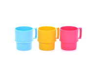 Plastic cups stock photos