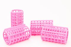 Plastic curlers Royalty Free Stock Image