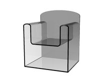 Plastic curved chair Royalty Free Stock Images