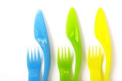 Plastic Cutlery stock photo