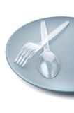 Plastic cutlery Stock Photography