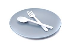 Plastic cutlery Royalty Free Stock Images