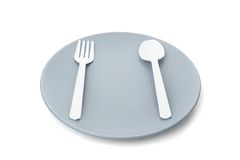 Plastic cutlery Royalty Free Stock Image