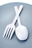 Plastic cutlery Stock Photography