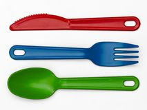 Plastic Cutlery 02 - Multi-Colour Royalty Free Stock Image