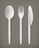 Plastic cutlery, vector illustration Royalty Free Stock Photography