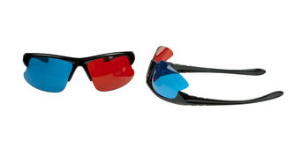Plastic 3D glasses Royalty Free Stock Images