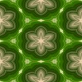 Plastic 3d patterns with floral motif, abstract seamless background in green and beige Stock Photo