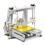 Plastic 3D printer Stock Foto's