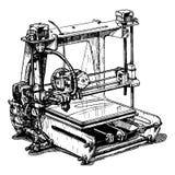 Plastic 3D printer Royalty Free Stock Photography