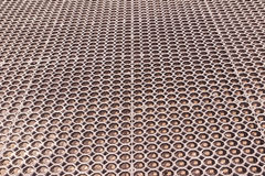 Plastic darinage cells on roof top background Stock Photo