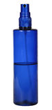 Plastic dark blue bottle a spray Stock Images