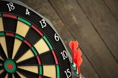 Plastic darts Stock Photo