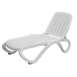 Plastic deck chair Royalty Free Stock Image
