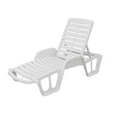 Plastic deck chair Stock Photography