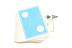 Plastic deck of playing cards Royalty Free Stock Photo