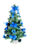 Plastic decorated christmas tree with an angel Royalty Free Stock Photos