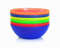 Plastic Dessert Bowls Royalty Free Stock Photos