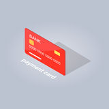 Plastic Detailed Payment Card Cartoon Style Flat Royalty Free Stock Photos