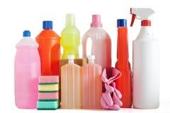 Plastic detergent bottles Stock Photography