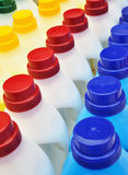 Plastic detergent bottles - cleaning products Royalty Free Stock Images