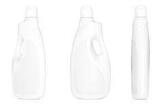 Plastic Detergent Container Bottles. 3d Rendering Royalty Free Stock Photography
