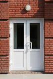 Plastic deuren. stock fotografie