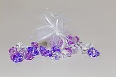 Plastic diamanten Stock Foto
