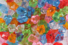 Plastic diamonds Royalty Free Stock Images