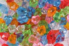 Plastic diamonds Royalty Free Stock Images
