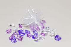 Plastic diamonds Stock Photo