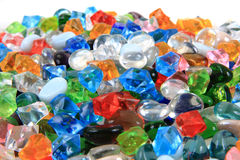 Plastic diamonds and beads texture Royalty Free Stock Photos