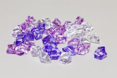 Plastic diamonds Royalty Free Stock Photos