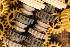 Plastic differential gears Stock Images