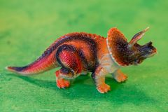 Plastic dinosaur Anchiceratops for kids in a preschool. Plastic dinosaur Anchiceratops for kids in a preschoo in sweden royalty free stock image