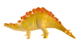 Plastic dinosaur toy isolated on white background Royalty Free Stock Photography