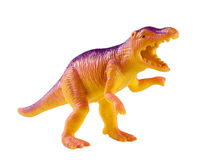 Plastic dinosaur toy isolated on white background Royalty Free Stock Photos