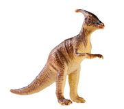 Plastic dinosaur toy isolated on white background Royalty Free Stock Images