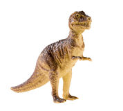 Plastic dinosaur toy isolated on white background Stock Images