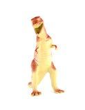 Plastic dinosaurs. Toys on a white background stock photos