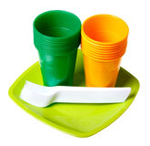 Plastic dishes Royalty Free Stock Photo