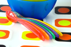 Plastic dishes Stock Photos