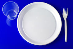 Plastic dishware Stock Photos
