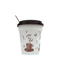Plastic disposable cup for coffee,isolated Royalty Free Stock Photography