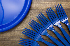 Plastic disposable fork Stock Photos